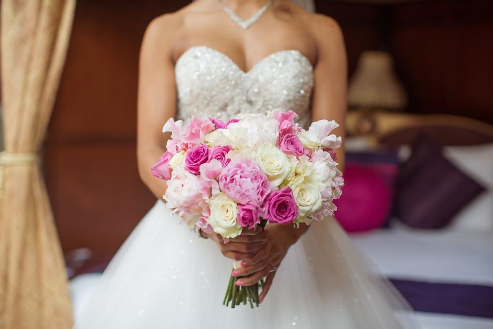 bouquet, wedding, amazing dress