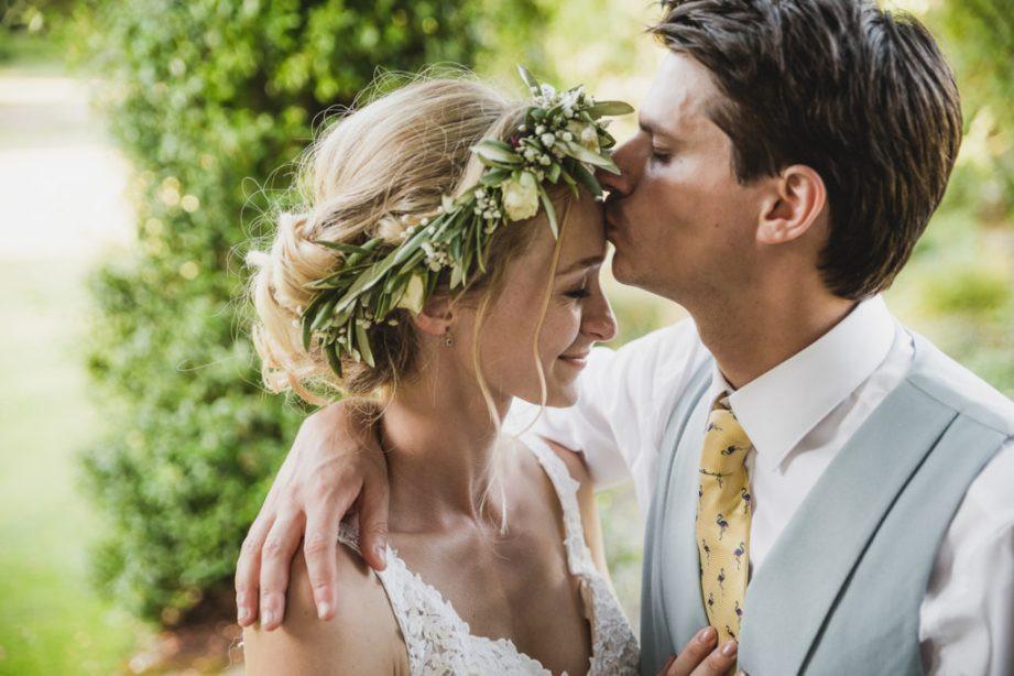couple shoot, Chichester wedding, bride, groom, flower crown