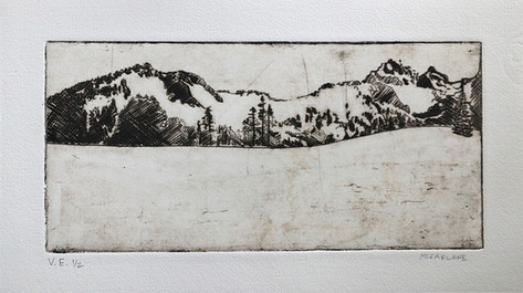 Dry Point Print Made by Jennifer McFarlane