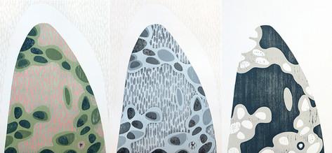 Woodcut print Varied Edition Made by Nadine Bariteau