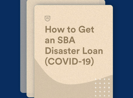 Applying for a Disaster Loan