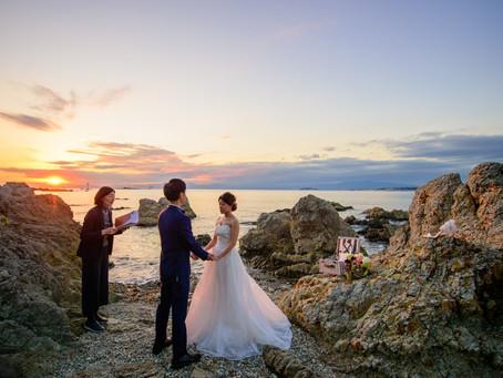 Planner's Blog- Sunset elopement at the seaside - Kanagawa, Japan