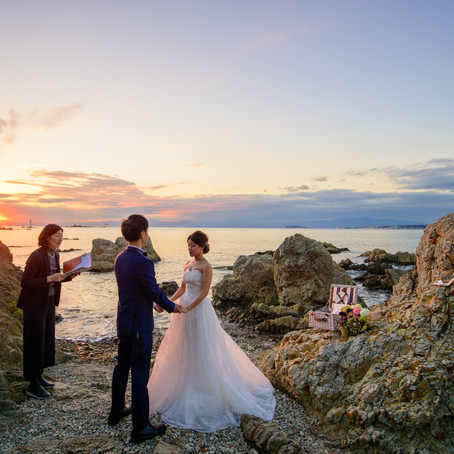 Planner's Blog- Sunset elopement at the seaside - Kanagawa, Japan