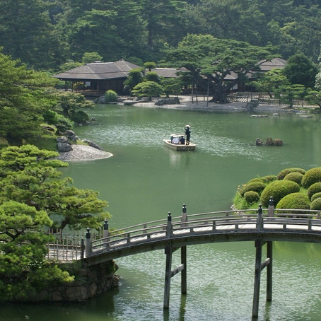 [Destination wedding location idea]  RITSURIN PARK in Kawaga, Japan