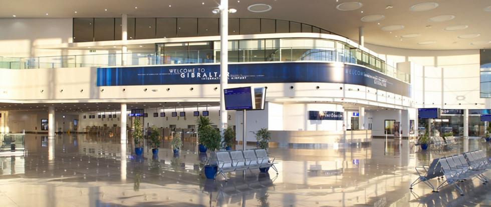 Gibraltar Airport biggest sign
