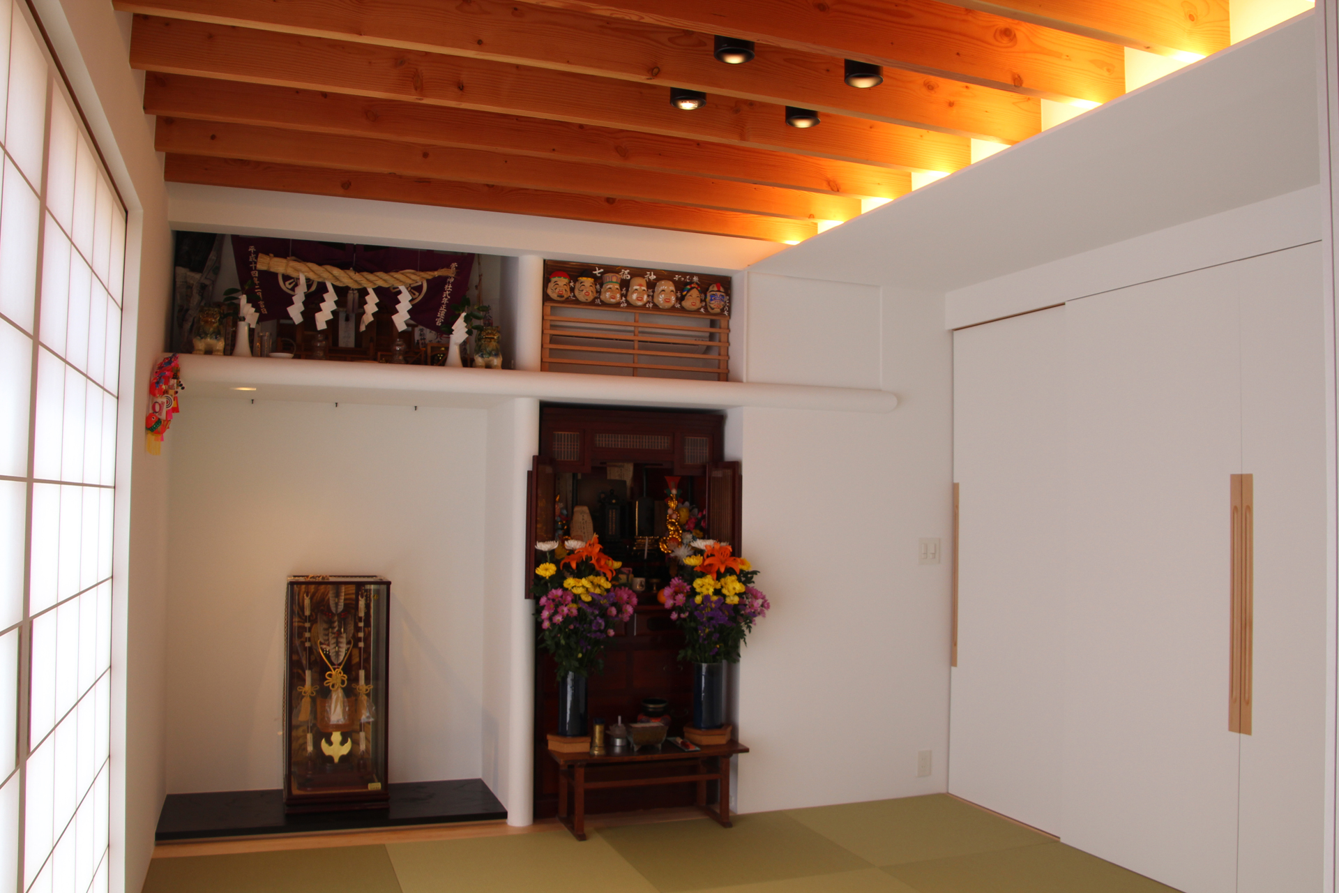 須賀川の立体住居/内観_和室