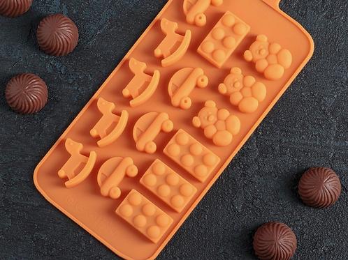 Форма силиконовая для шоколада «Игрушки»