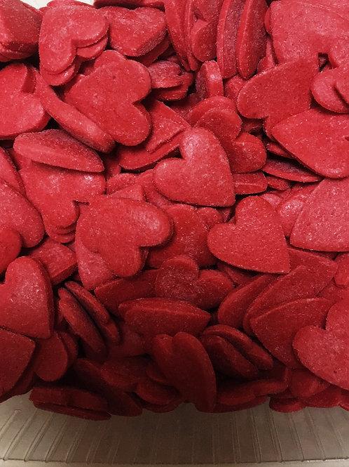 Посыпка сердца красные 150 гр.