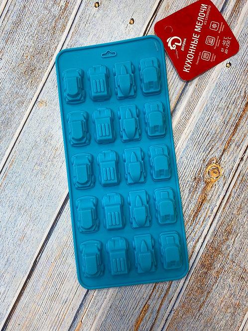 Форма силиконовая для шоколада и мармелада «Машинки»