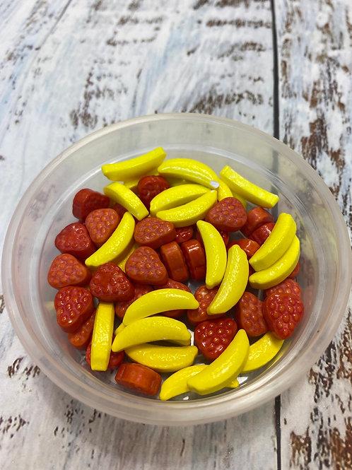 Посыпка конфетки Бананы и клубники