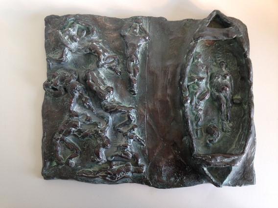 Boat People Bronze Relief