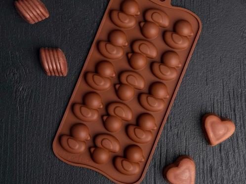 Форма силиконовая для шоколада «Уточки»