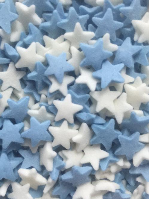 Посыпка звезды белые/голубые