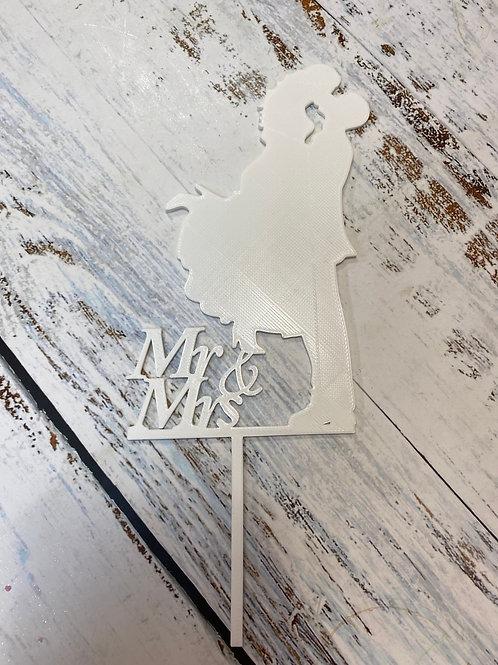 Топпер пластик белый «Свадебный»