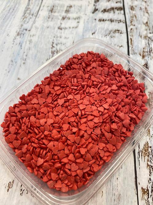 Посыпка сердечки красные мини