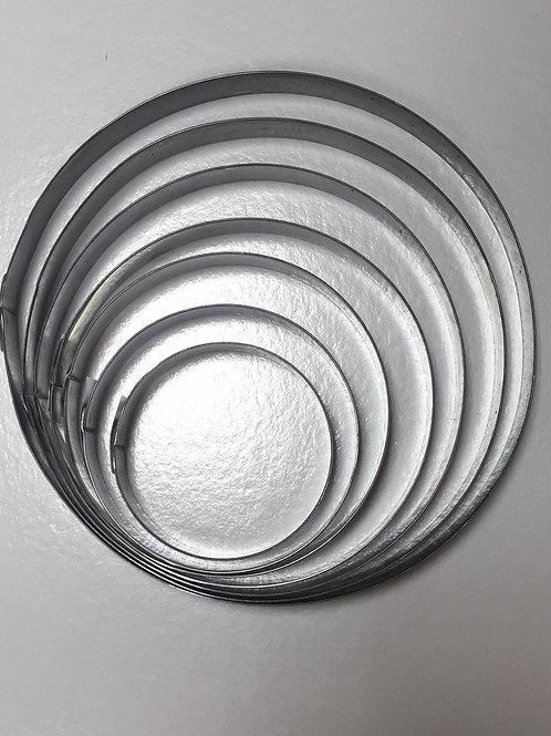 Набор форма резак круг диаметр 8,10,12,14 высота 2см