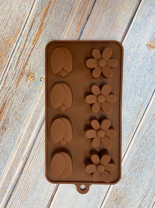 Форма силиконовая для шоколада «Цветы»