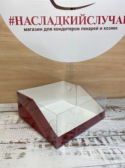 Коробка для торта с прозрачной крышкой 23,5/23,5/10см