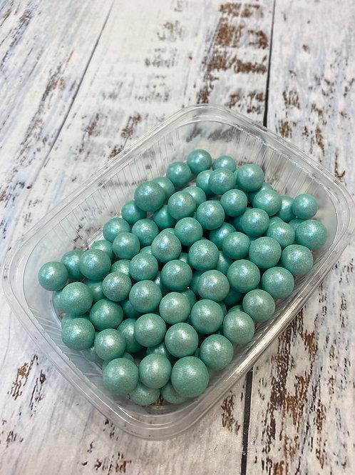 Посыпка  сахарные шарики Зеленый перламутр 10мм