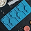 Thumbnail: Форма силиконовая «Сердечки» для леденцов и шоколада