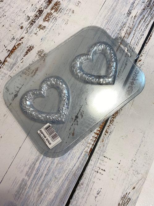 Пластиковая форма «Сердечные кольца»
