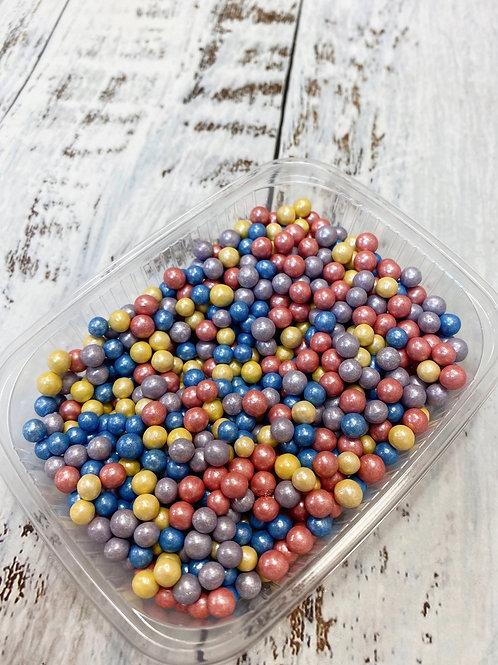 Посыпка сахарные шарики микс перламутр 5мм