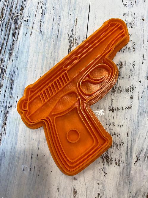 Вырубка Пистолет (штамп+вырубка)