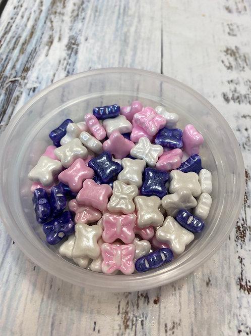 """Посыпка микс """"Бабочки белый/розовый/фиолетовый"""", 50 гр"""