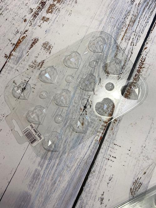 Пластиковая форма «Сердца геометрия»