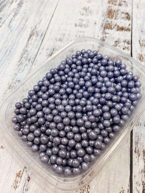 Посыпка  сахарные шарики Фиолетовый перламутр 5мм