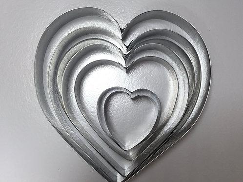 Форма резак сердце 14 высота 5см