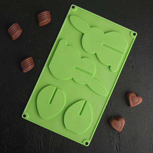 Форма силиконовая «Зайчик 3д» для леденцов и шоколада