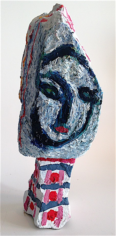 Painted Stone Head
