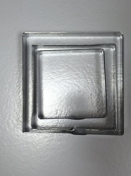 Набор форм резак квадрат 8,10,12 высота 2см