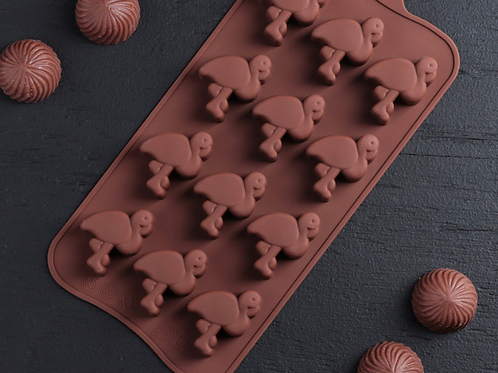 Форма силиконовая для шоколада «Фламинго»