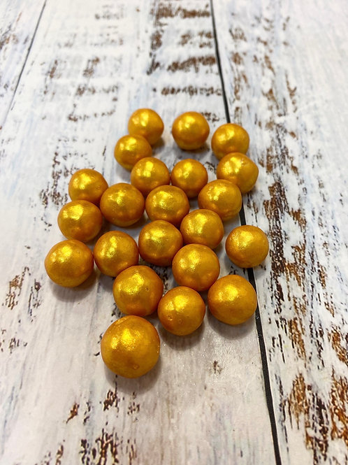 Посыпка Шарики золото диаметр 1,5см