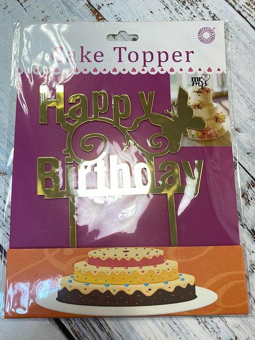 Топпер пластик «Happy Birthday»