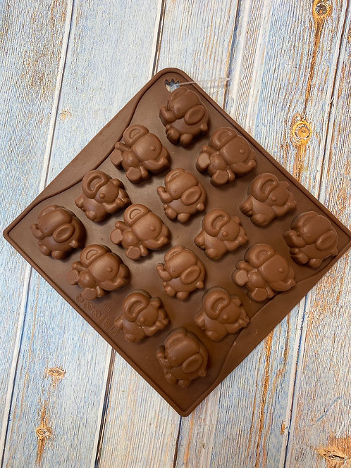 Форма силиконовая для шоколада «Слоники»