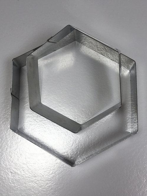 Форма резак шестигранник 22 высота 5см