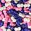 """Thumbnail: Посыпка микс """"Бантики белый/розовый/фиолетовый"""", 50 гр"""