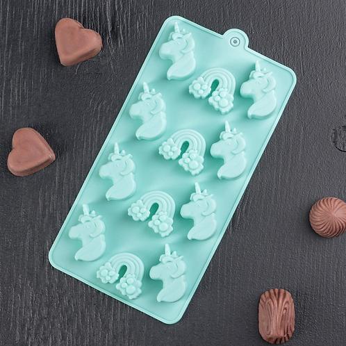 Форма силиконовая для шоколада и мармелада «Единорог»