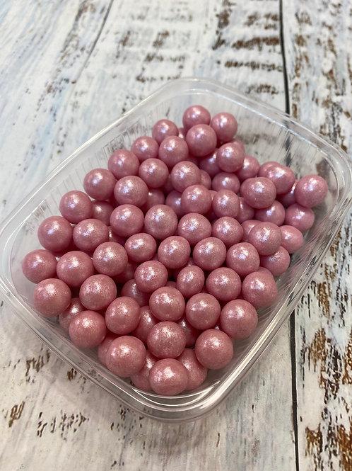 Посыпка шарики Розовые перламутр внутри воздушный рис 10мм