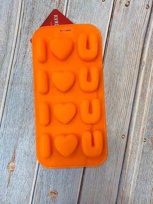Форма силиконовая для шоколада «Лове»