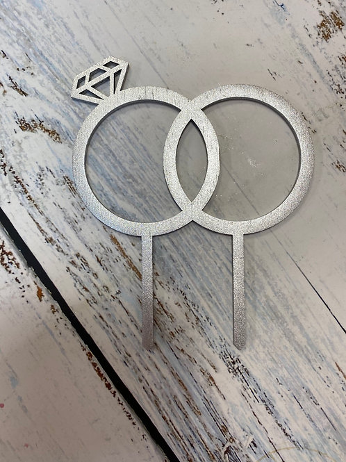 Топпер деревянный «Кольца»