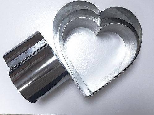Форма резак сердце 24 высота 12см