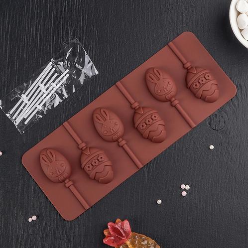 Форма силиконовая «Яйца» для леденцов и шоколада