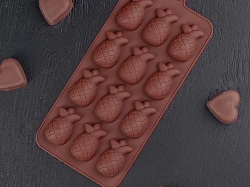 Форма силиконовая для шоколада «Ананас»