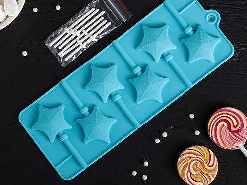 Форма силиконовая «Звёзды» для леденцов и шоколада