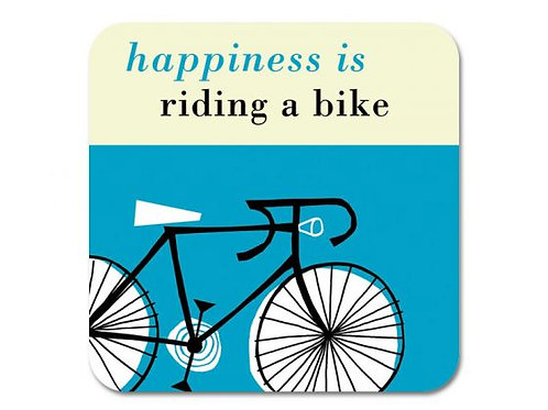 Happiness Bike Coaster - Turquoise