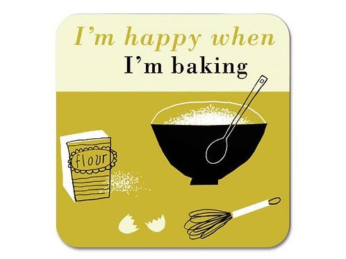 Happiness Baking Coaster - Olive